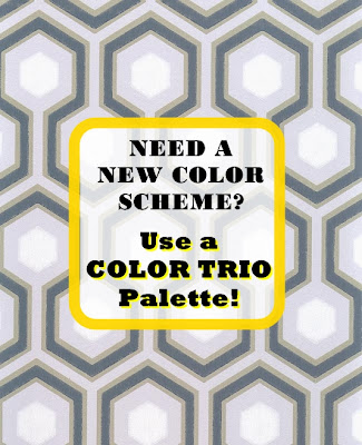 Paint and accent colors to create a Color Scheme for a room.