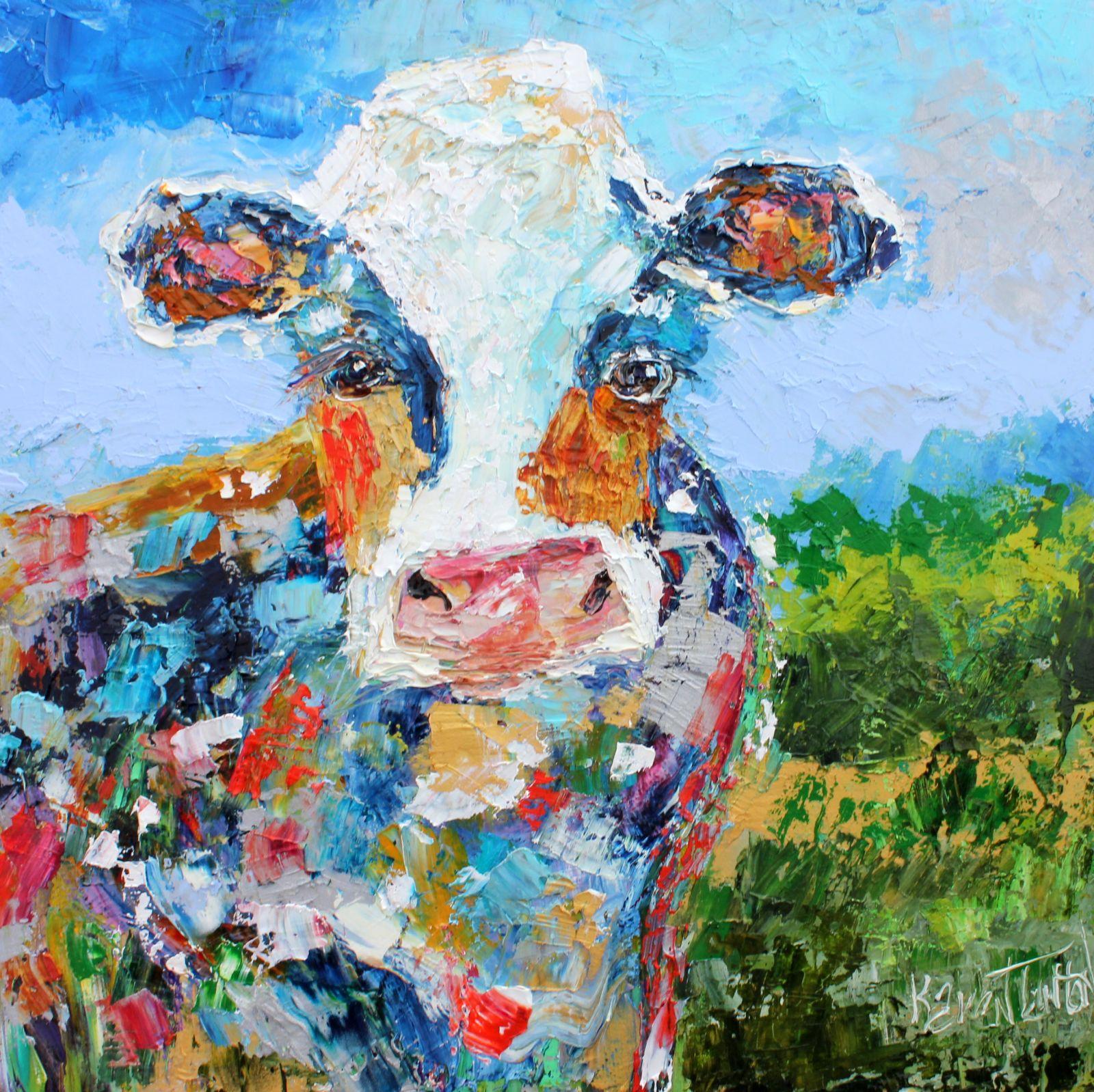 Karen Tarlton Original Oil Paintings By Karen Tarlton Cow