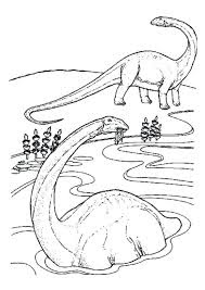 Brachiosaurus On River Coloring Pages
