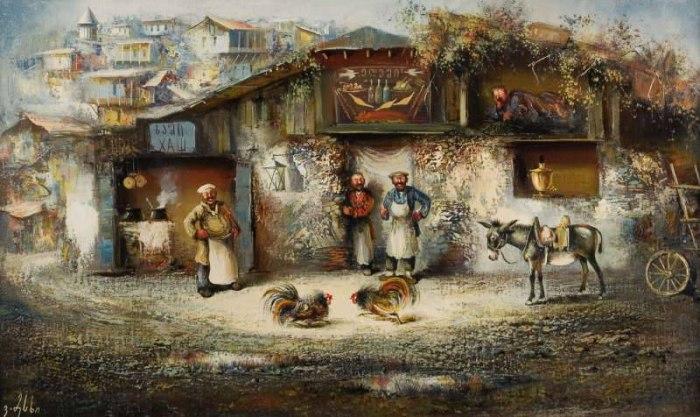 Грузинский художник. Важа Месхи
