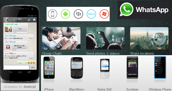Various Alternatives of WhatsApp, a mobile chat messenger !   What