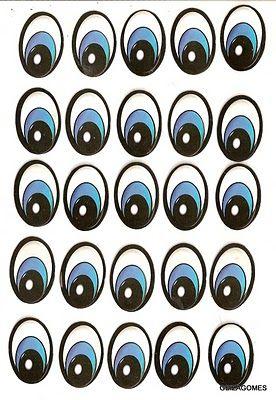 Moldes De Olhinhos E Boquinhas Olhos E Bocas Para Imprimir E