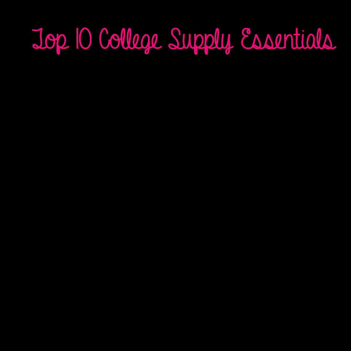 School Supply List: College School Supply List