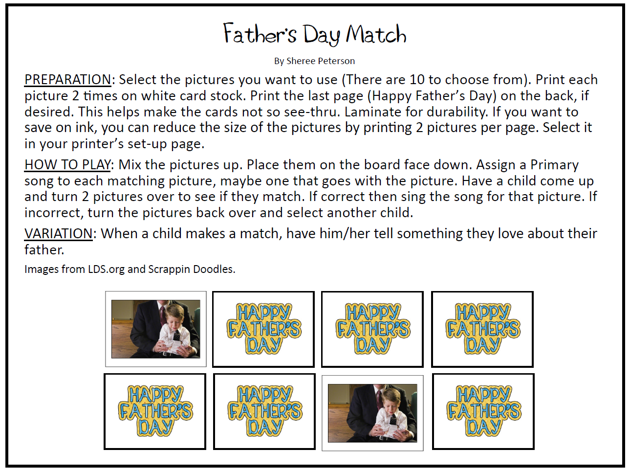 The Primary Pad Father S Day Singing Activities