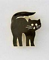 Halloween black cat pin jewelry