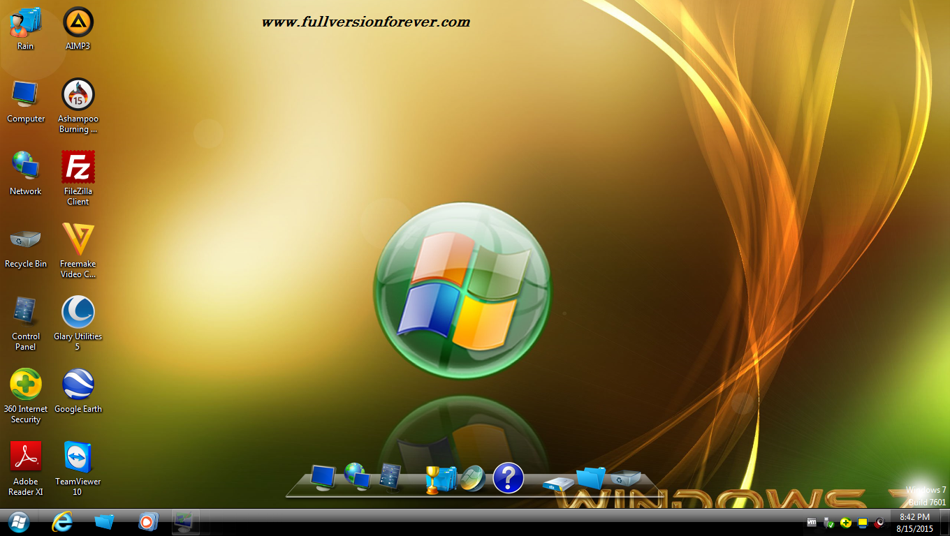 Download Windows 7 Infinium v5 x64 bit bootable iso activated