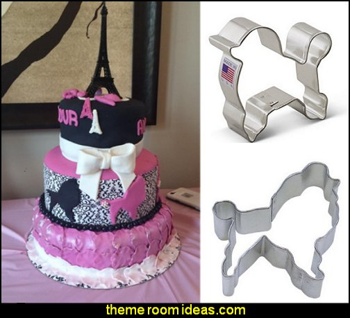 poodle cookie cutters  Paris party decorations - Paris themed party supplies - Party in Paris Birthday Party Decorations  -  Pink Paris Party -  Paris party balloons - Eiffel Tower Favor Boxes -  French-themed celebration  - Pink Poodle Paris Theme Birthday Party