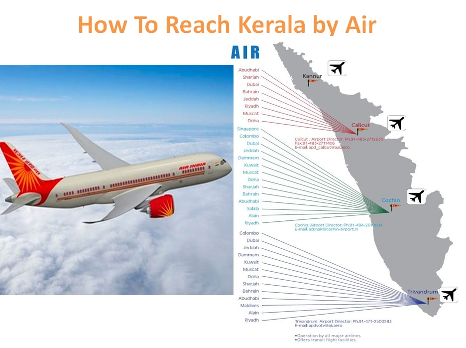 how to reach keralaair   details of airports and flights