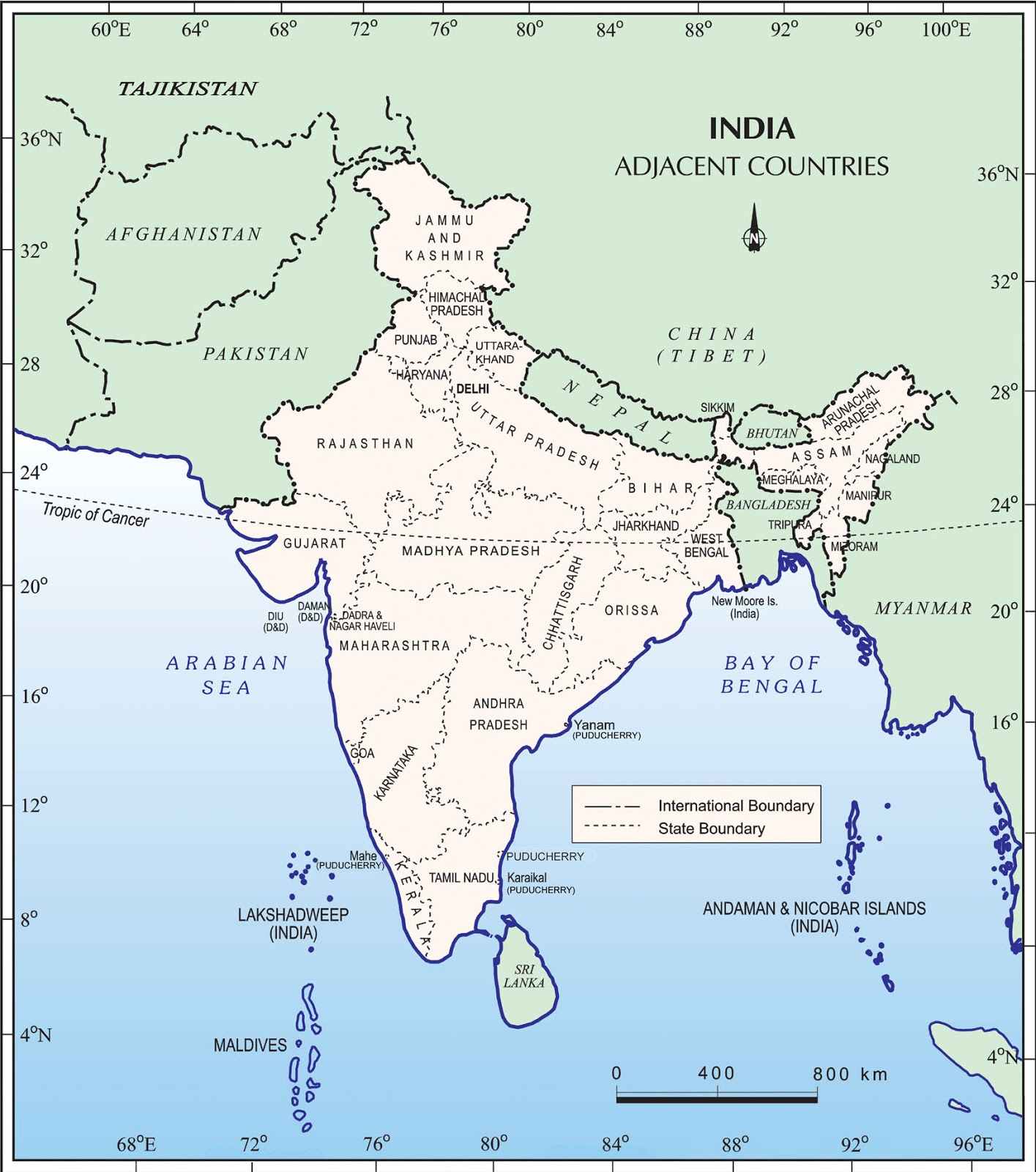 questions related to india and its neighbouring countries