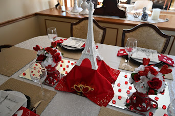 Eiffel Tower Romantic Inspired Tablescape