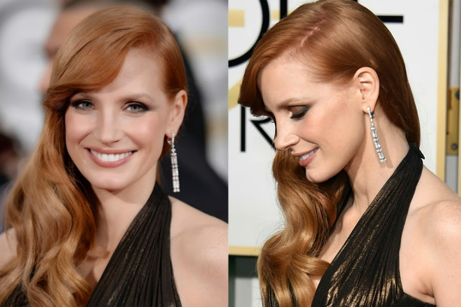 Jessica Chastain Golden Globe Awards 2015