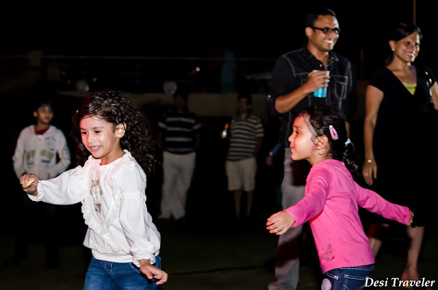 kids party enjoying