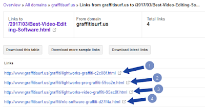 Check all backlinks