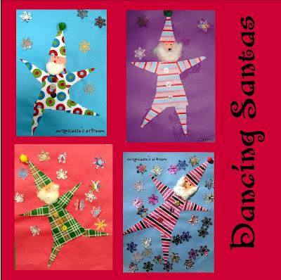 Kleurrijke Kerstman knutselen