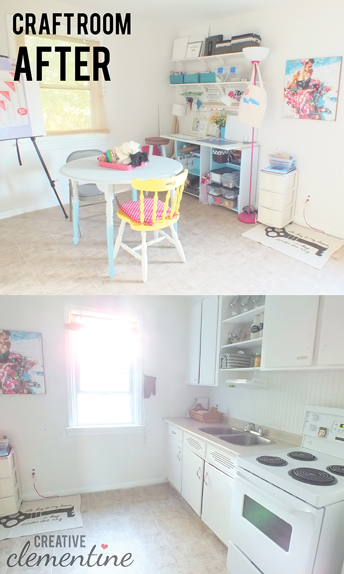 Creative Clementine: Craft Room Before & After