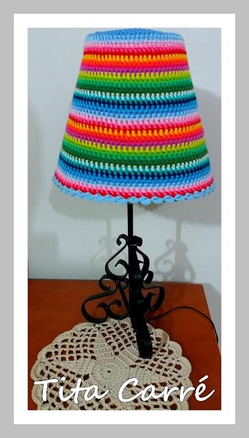 Cúpula Colorido em Crochet