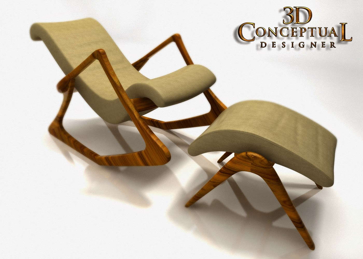 Project Review: 3D Subdivision Architectural Modeling For Thomas Juul  Hansen LLC Custom Mid Century Modern Kagen Chair And Ottoman PART IV