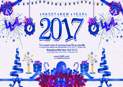 New Year 2017 Greetings Friends Lover