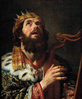 Nomes bíblicos estrangeiros masculinos com D - Rei Davi tocando harpa - Gerrit van Honthorst