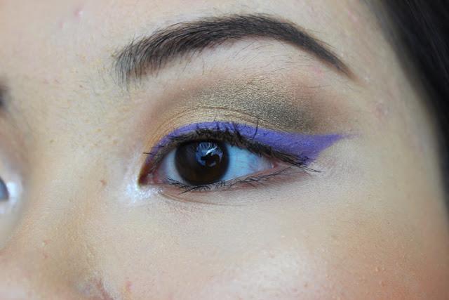 makeup d'été coloré