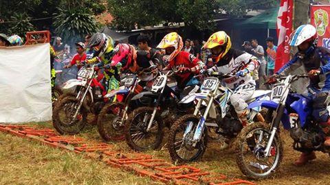 Balap Motor Cross Kodim 0508/Depok Tangkal Geng Motor
