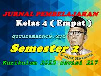 Jurnal Pembelajaran Tematik SD/MI Kelas 4 Semester 2 Kurikulum 2013 Revisi 2017