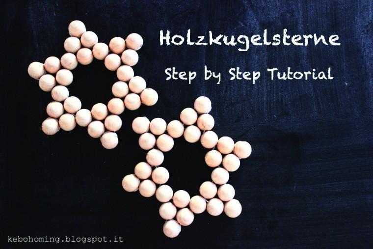Holzkugelsterne selbst machen mit diesem Step by Step Tutorial ist es so einfach, hier die Anleitung bei dem Südtiroler Blog kebo homing, wooden stars diy tutorial