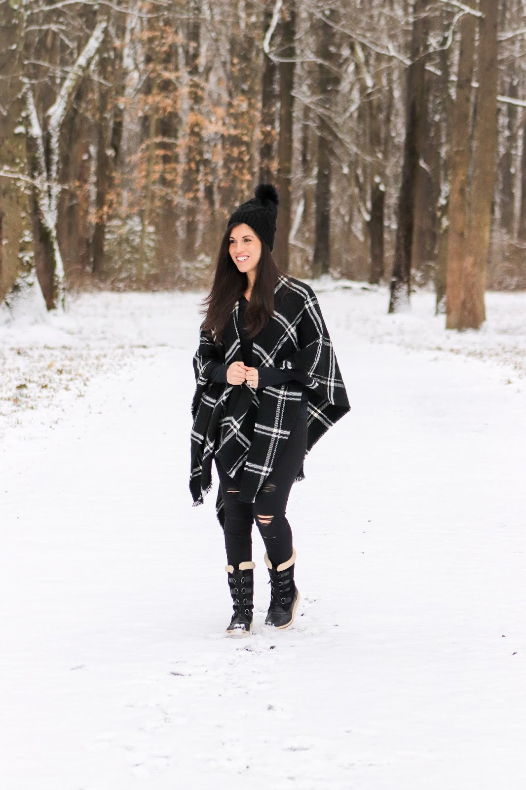 c9990ad016c7 Beautifully Candid: Winter Outfit Idea-Blanket Love