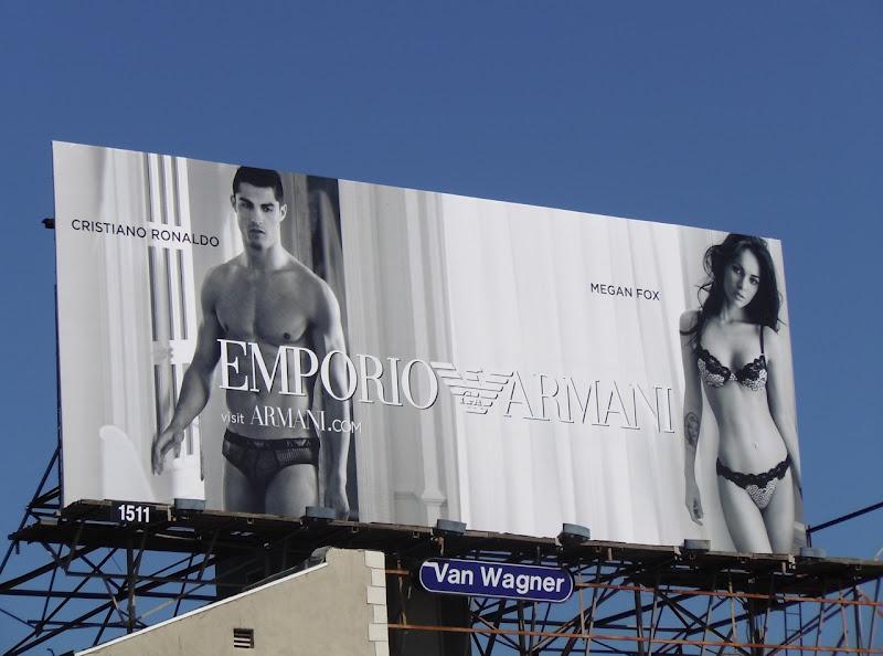 Emporio Armani underwear billboard