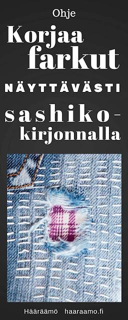 Ohje: Korjaa farkut näyttävästi sashiko-kirjonnalla