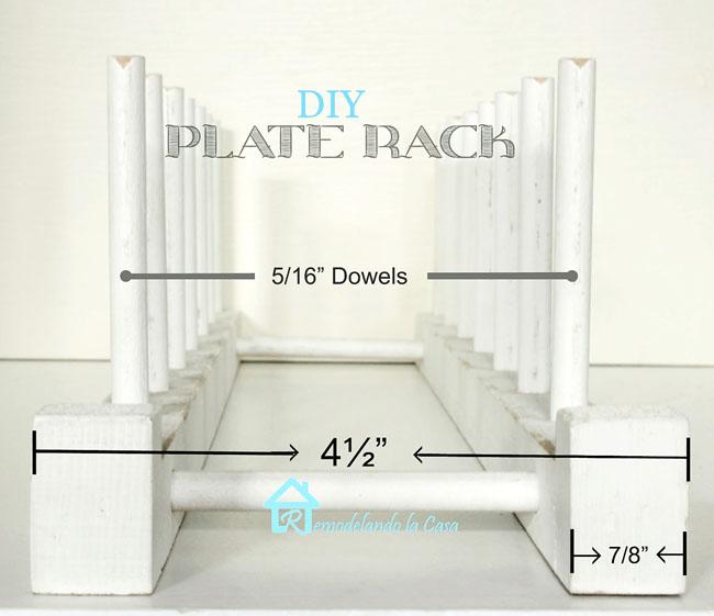 For ...  sc 1 st  Remodelando la Casa & Easy to Build Plate Rack - Remodelando la Casa