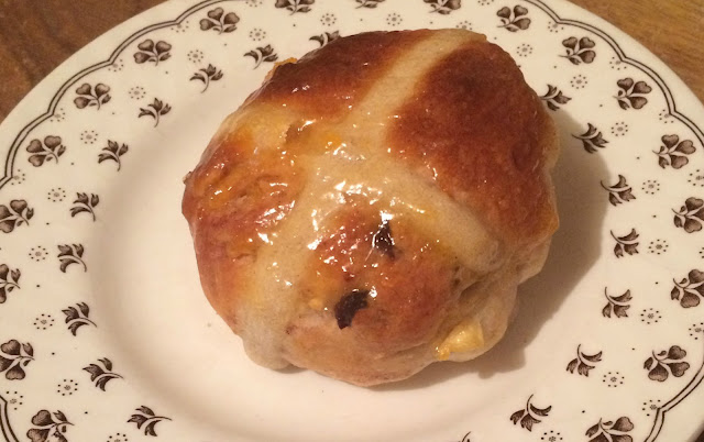 Photograph of my home-made Original Recipe Hot Cross Buns