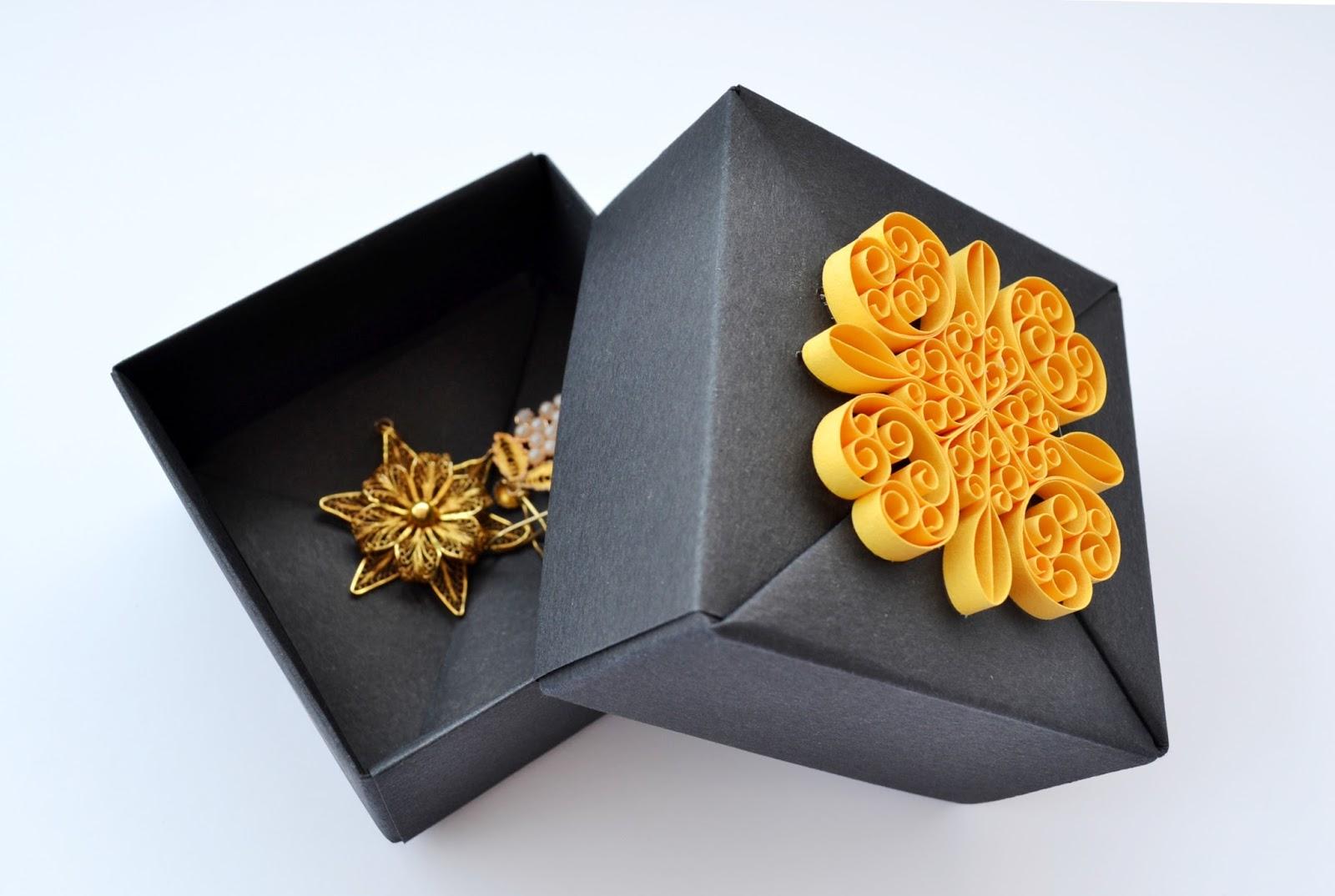 Kağıtla Küçük şeyler: Handmade Gift Boxes With Quilling