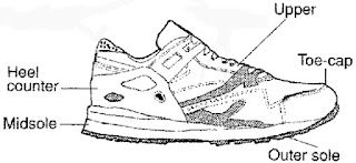Parts of a Running Shoe Infographic