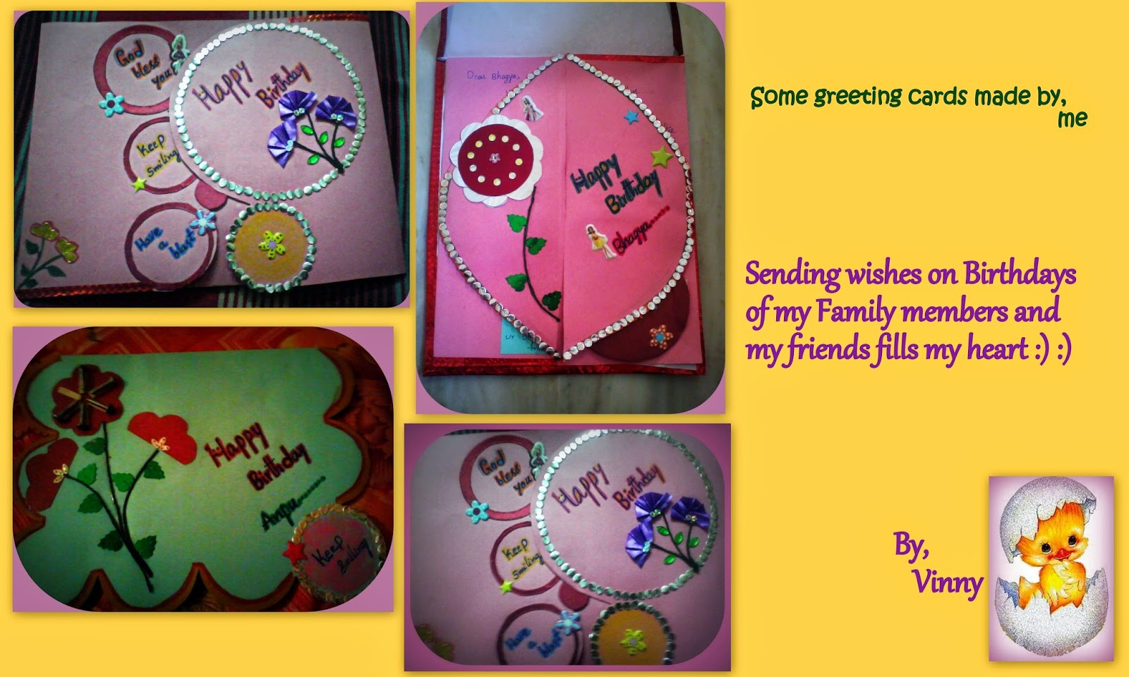 Greeting cards made by me