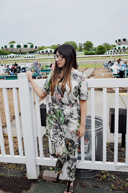 Printed Belted Jumpsuit