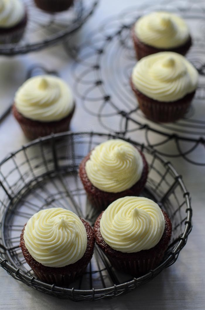 Roasted beets Red velvet cupcakes