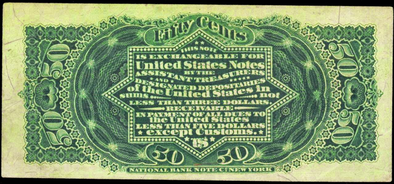 Fractional Currency Fifty Cents 1863