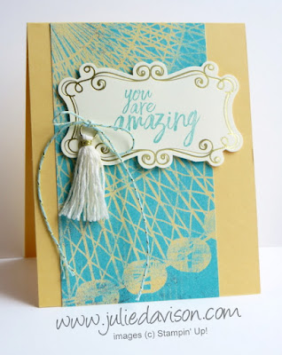 Stampin' Up! All Things Thanks + Cupcakes & Carousels Designer Paper and Embellishments for #GDP079 ~ www.juliedavison.com