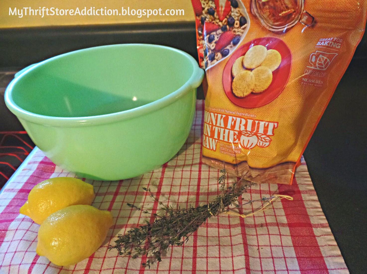Recipe for lemon thyme tea cakes