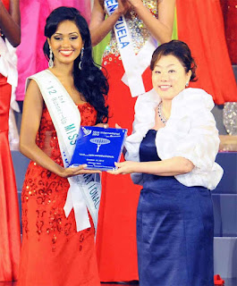 Madusha Mayadunne second runner-up at the 52nd Miss International 2012