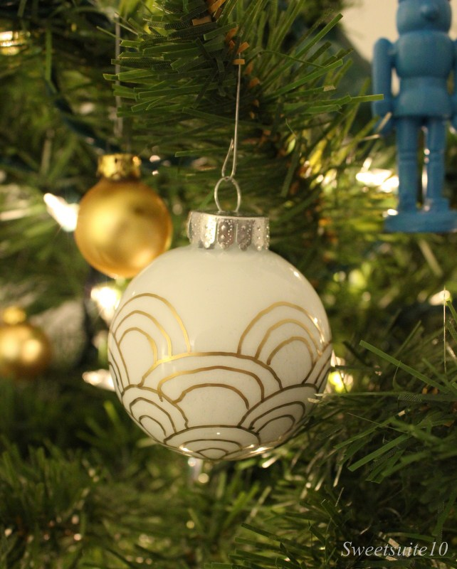 white Christmas ornament