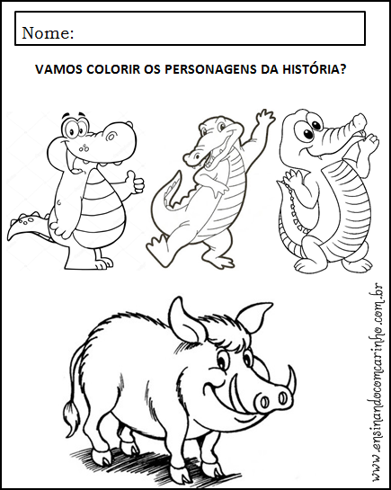 Plano De Aula Para Trabalhar A Historia Os Tres Jacarezinhos