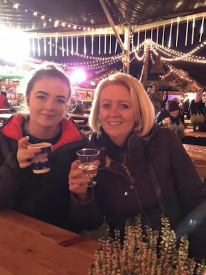 mum and daughter at winter wonderland in London