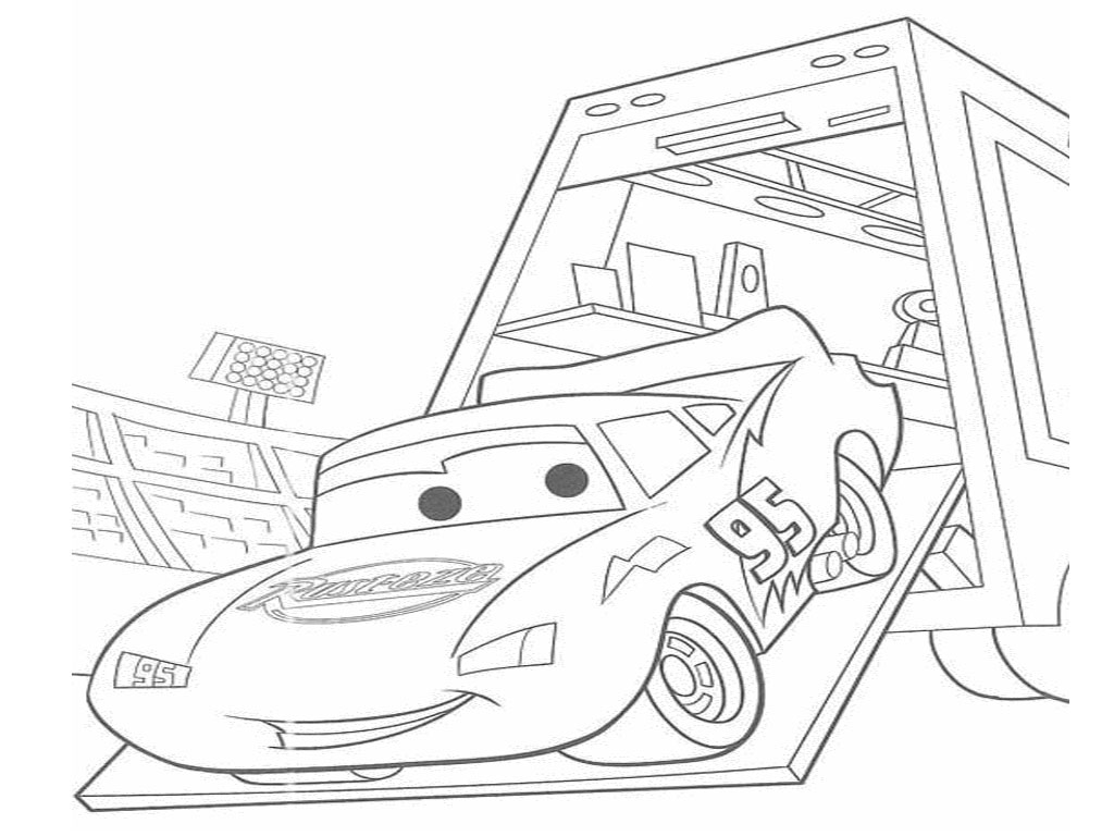 Lightning mcqueen from cars 4 disney coloring pages for Lightning mcqueen coloring pages