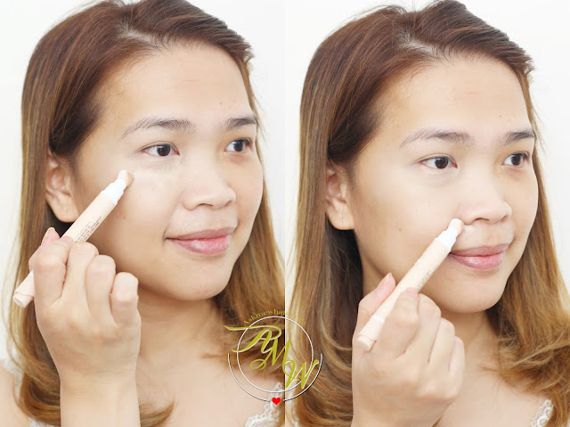 a photo on how to use Etude House Big Cover Cushion Concealer Spf30/Pa++ Sand