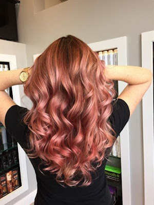 rose gold hair pink trend