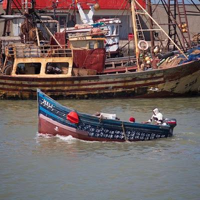 Barca pesquera en Essaouira