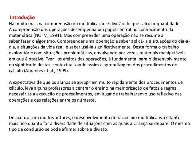 CONCEITOS DE MULTIPLICAÇÃO E DIVISÃO
