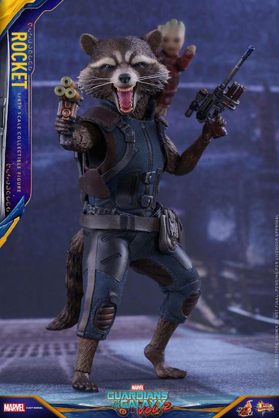 2c8d8300d 1/6th-scaled ROCKET RACCOON by Hot Toys for Marvel's GUARDIANS OF THE GALAXY  VOL. 2